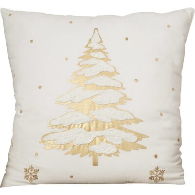 Stanley Cotton Throw Pillow Color: Gold