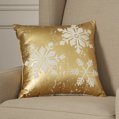 Epping Snowflakes 100% Cotton Throw Pillow