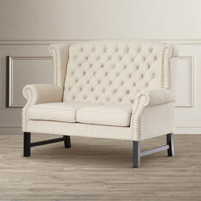 Manoel Loveseat Upholstery: Beige