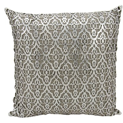Cormac Natural Hide Lumbar Pillow Color: Silver/White