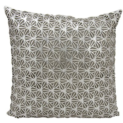 Cormac Natural Hide Throw Pillow Color: Silver/White