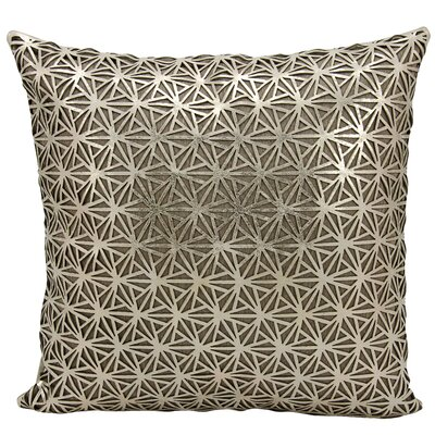 Cormac Natural Hide Throw Pillow Color: Gold/Beige