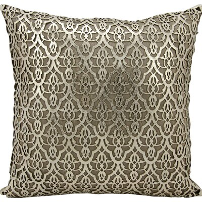 Cormac Natural Hide Lumbar Pillow Color: Gold/Beige