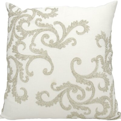 Hertzog Throw Pillow Color: Silver