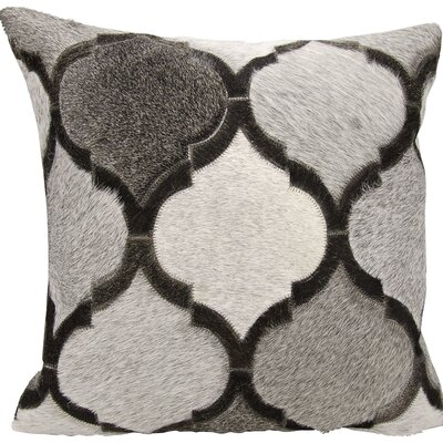 Tressa�Faux Fur Throw Pillow Color: Silver/Gray