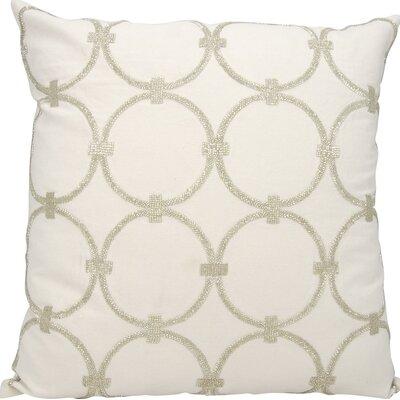 Hertzog Throw Pillow Color: Silver