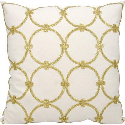 Hertzog Throw Pillow Color: Light Gold