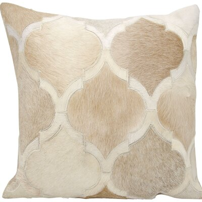Tressa�Throw Pillow Color: Beige