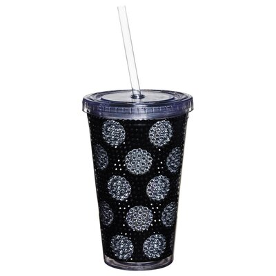 Dandridge Polka Dot Bling Holiday Pattern 17 oz. Insulated Cup HOHN7032 31384190