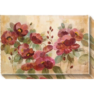 Fleurs Rouge Graphic Art on Wrapped Canvas