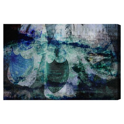 Champagne Bath Reverse Graphic Art on Wrapped Canvas Size: 10
