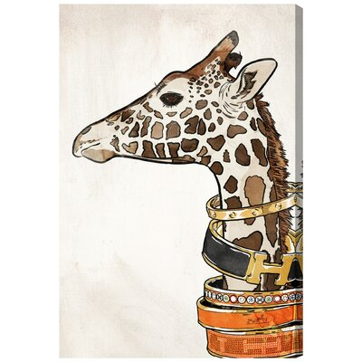 Luxurious Giraffe Graphic Art on Wrapped Canvas Size: 15