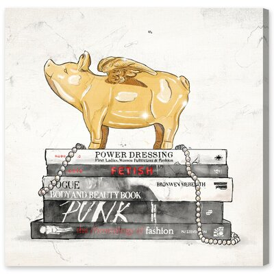 Flying Pig Books Luxe Graphic Art on Wrapped Canvas