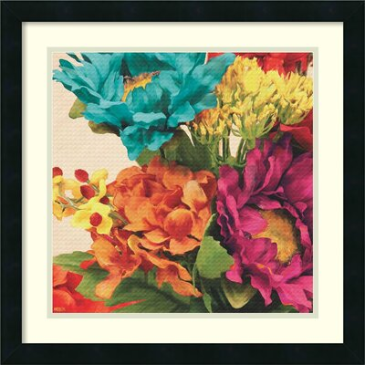 Pop Art Flowers I Framed Painting Print