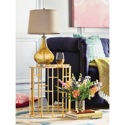 Nasim End Table Finish: Gold