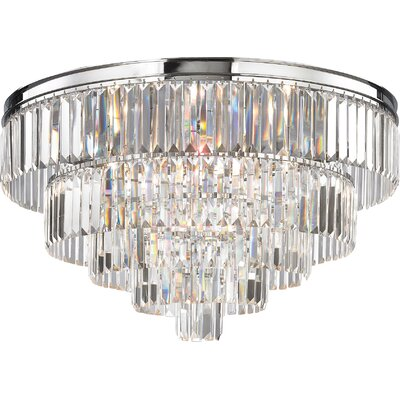 Springfield 6-Light Flush Mount Finish: Polished Chrome