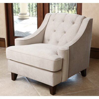 Gilles Tufted Arm Chair Upholstery: Beige