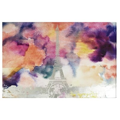 Paris Eiffel Watercolor Canvas Print