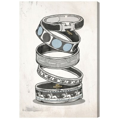 Arm Candy Silver Canvas Print, Oliver Gal