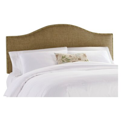 Dodson Nail Button Upholstered Panel Headboard Size: Twin, Upholstery: Glitz Filbert