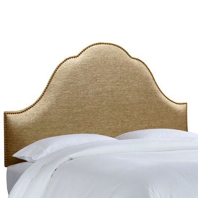 Brighton Nail Button Upholstered Panel Headboard Size: Full, Upholstery: Glitz Filbert