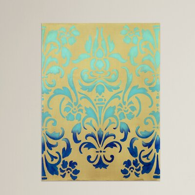 Ombre Stencil Graphic Art on Canvas