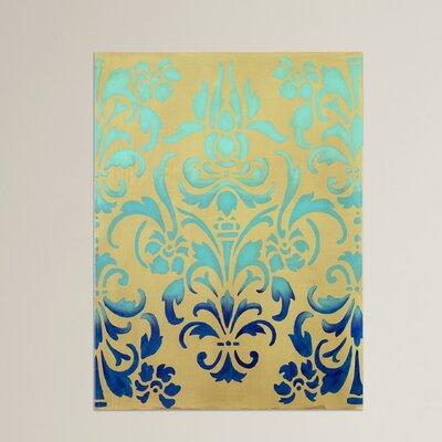 Ombre Stencil Graphic Art on Canvas