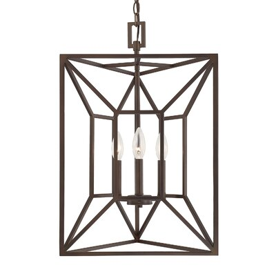 Missy 3-Light Foyer Pendant Finish: Burnished Bronze