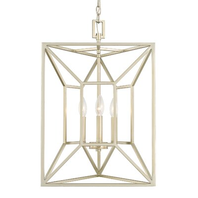 Missy 3-Light Foyer Pendant Finish: Soft Gold