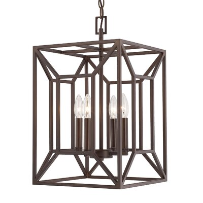 Missy 4-Light Foyer Pendant Finish: Burnished Bronze, Size: 20.5 H x 12 W x 12 D
