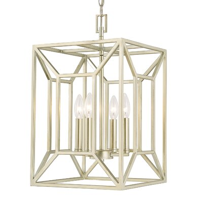 Missy 4-Light Foyer Pendant Finish: Soft Gold, Size: 20.5 H x 12 W x 12 D