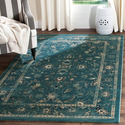 Morehouse Turquoise/Beige Area Rug Rug Size: Runner 2 x 8