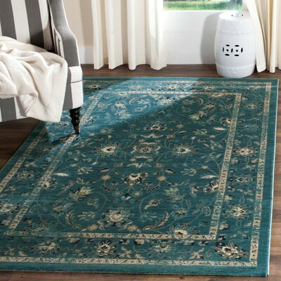 Morehouse Turquoise/Beige Area Rug Rug Size: Rectangle 4 x 6