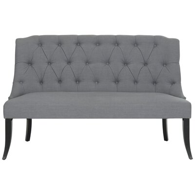 Rosemary Settee Upholstery: Gray