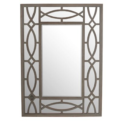 Rectangle Brown Wooden Wall Mirror