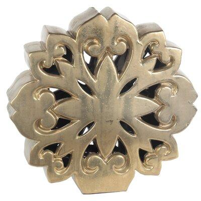 Glossy Yellow Decorative Ceramic Size: 15