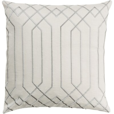 Selvage Linen Pillow Cover Size: 18 H x 18 W x 0.25 D, Color: NeutralGray