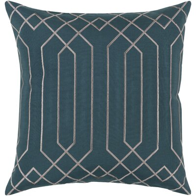 Selvage Linen Pillow Cover Size: 18 H x 18 W x 0.25 D, Color: GreenGray