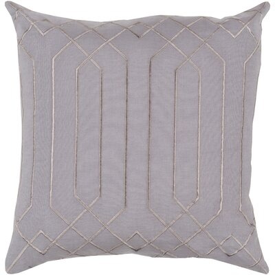 Selvage Linen Pillow Cover Size: 18 H x 18 W x 0.25 D, Color: Gray