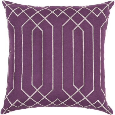 Selvage Linen Pillow Cover Size: 18 H x 18 W x 0.25 D, Color: PurpleGray
