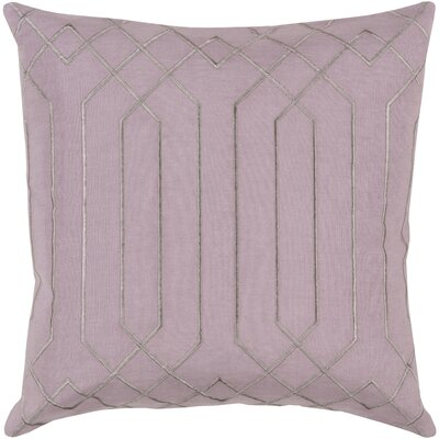 Selvage Linen Pillow Cover Size: 20 H x 20 W x 1 D, Color: LilacGray