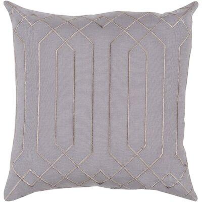 Loreta 100% Linen Throw Pillow Cover Size: 22 H x 22 W x 0.25 D, Color: Gray