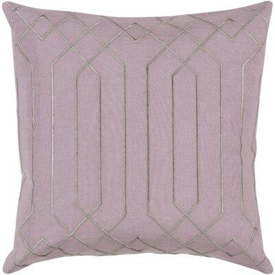 Loreta 100% Linen Throw Pillow Cover Size: 18 H x 18 W x 0.25 D, Color: LilacGray