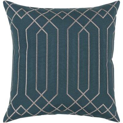 Loreta 100% Linen Throw Pillow Cover Size: 20 H x 20 W x 1 D, Color: GreenGray