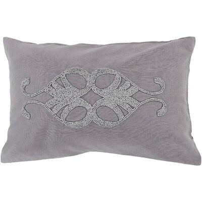 Rooney Lumbar Pillow Cover Color: Medium GrayMetallic
