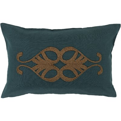 Rooney Lumbar Pillow Cover Color: GreenMetallic