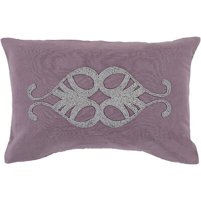 Rooney Lumbar Pillow Cover Color: PurpleMetallic