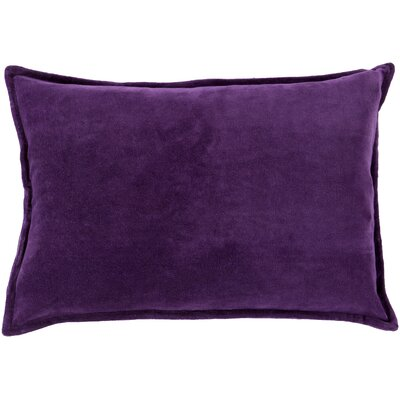 Carlisle 100% Cotton Lumbar Pillow Cover Color: Purple, Size: 13