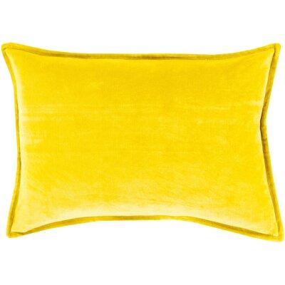 Carlisle 100% Cotton Lumbar Pillow Cover Size: 13 H x 20 W x 1 D, Color: Yellow