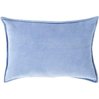 Carlisle 100% Cotton Lumbar Pillow Cover Size: 13 H x 20 W x 1 D, Color: Bright Blue